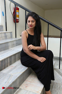 Actress Nikita Bisht Pictures in Black Long Dress at Akritti Elite Exhibition Launch  0064.jpg