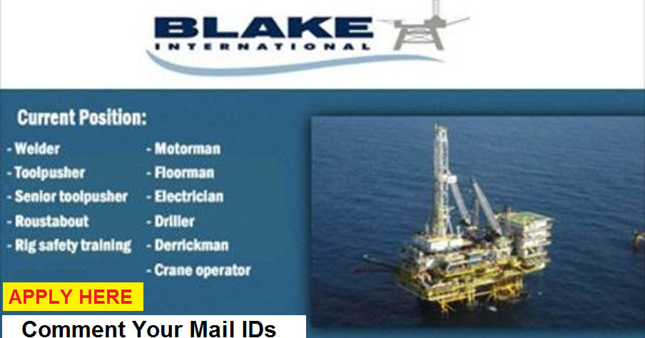 Offshore Crew Urgent Requirement | Blake International