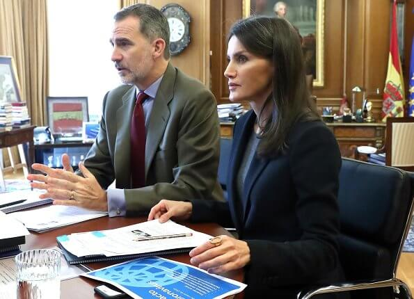 SOS Children's Villages' president Pedro Puig Pérez. President of Projecte Home Balears, Tomeu Catala. blazer