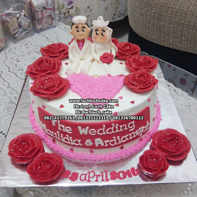 Engagement and Wedding Cake Surabaya - Sidoarjo