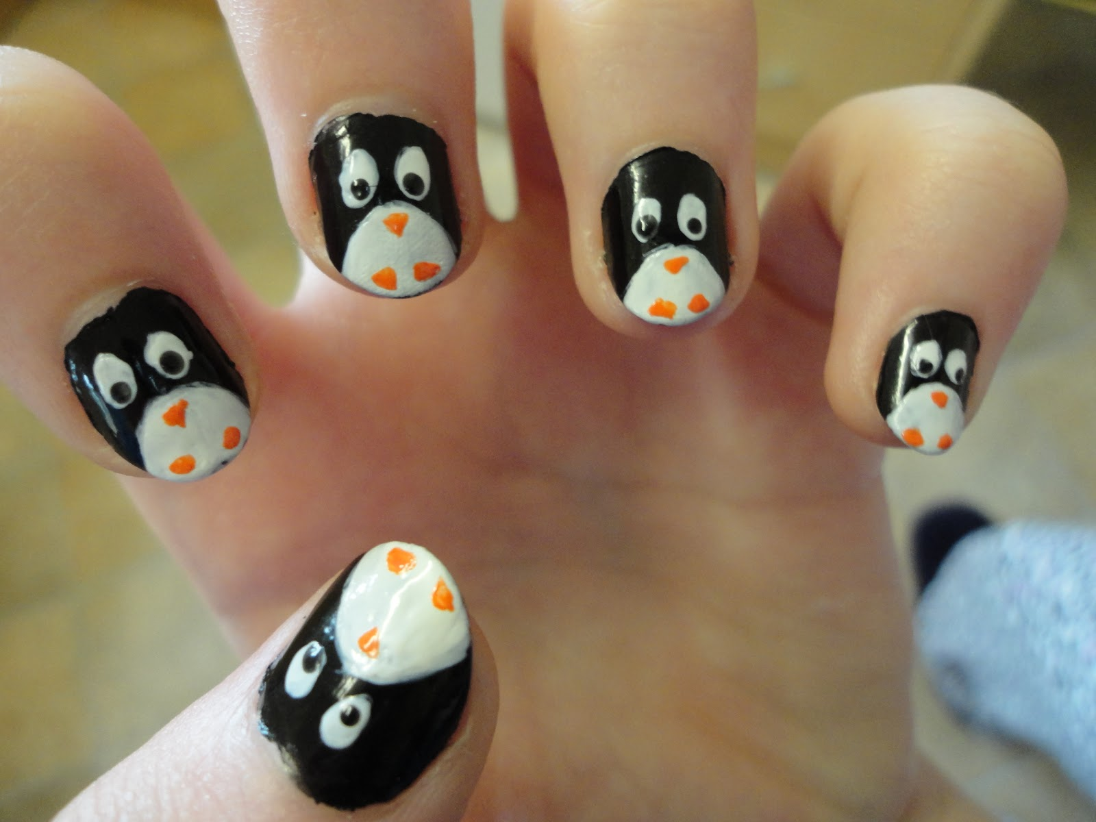 Nail art for Penguin & Newspaper nails: | Fashion Art_A2Z