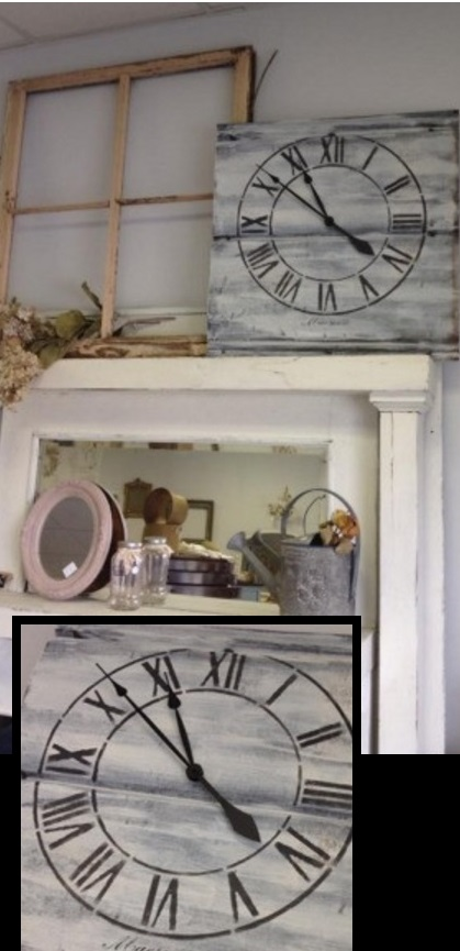DIY Shabby Clock with Artistic Stencils