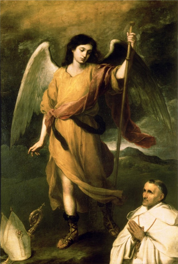 St. Raphael the Archangel with Bishop Domonte, c. 1680, Pushkin Museum