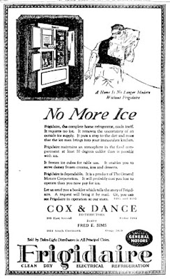1922 Frigidaire - No More Ice