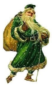 Il vestito di babbo natale era verde