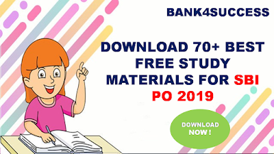 SBI PO Free Books and Study Materials PDF - Download Now