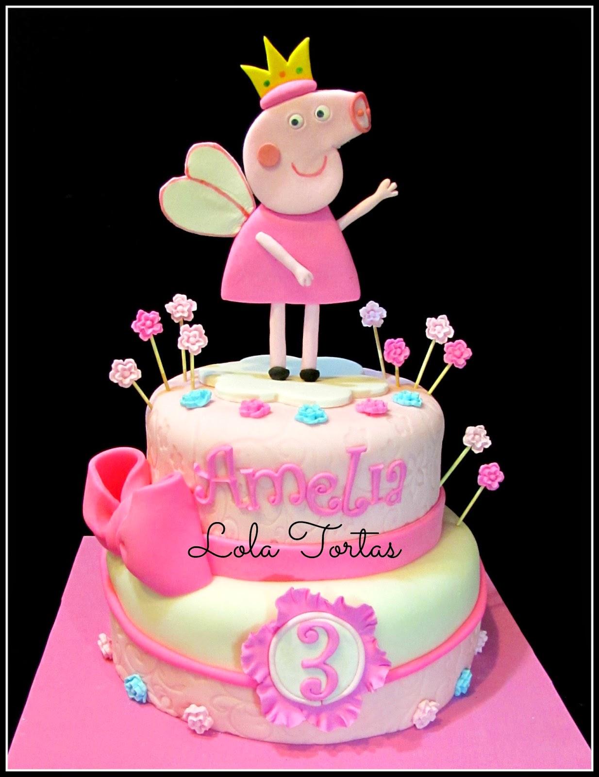 Lola Tortas: Torta de Peppa Princesa