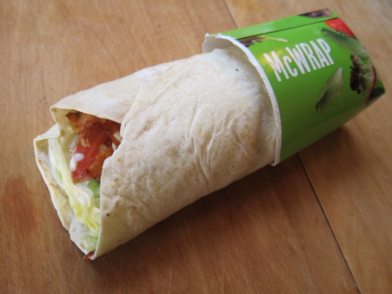 Review Mcdonald S Chicken Bacon Mcwrap Brand Eating