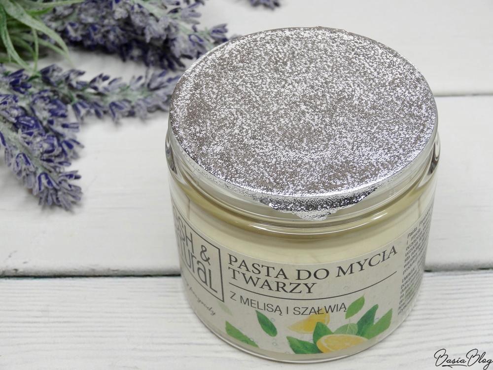 Pasta do mycia twarzy Fresh&Natural z melisą i szałwią, łagodne oczyszczanie skóry, naturalne oczyszczanie skóry, mycie twarzy olejami, olejki myjące, delikatny produkt do mycia twarzy, łagodne mycie twarzy