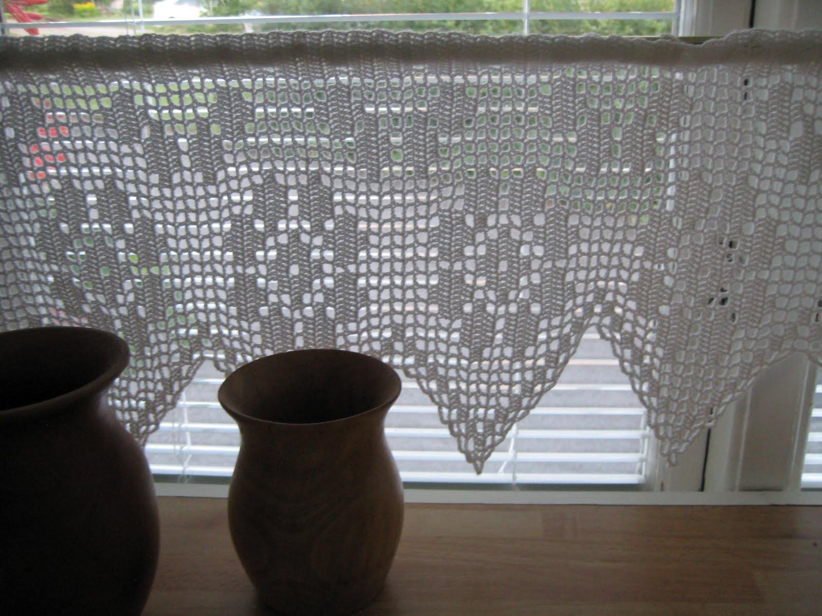 hæklede gardiner Hæklede gardiner opskrift hæklede gardiner