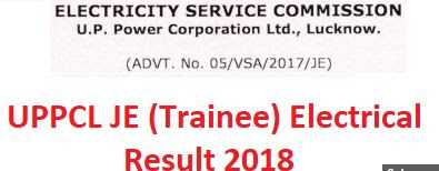 UPPCL Junior Engineer (Electrical Trainee) Final Merit List 2018