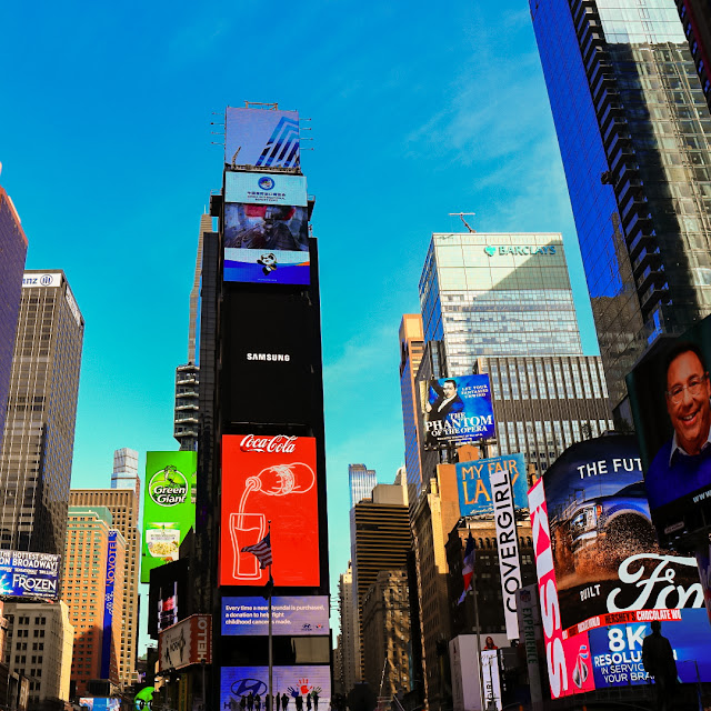 New York, panoramica di Time Square