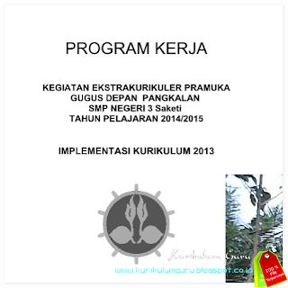 Program Kerja Kegiatan Ekstrakurikuler Pramuka Implementasi Kurikulum 2013