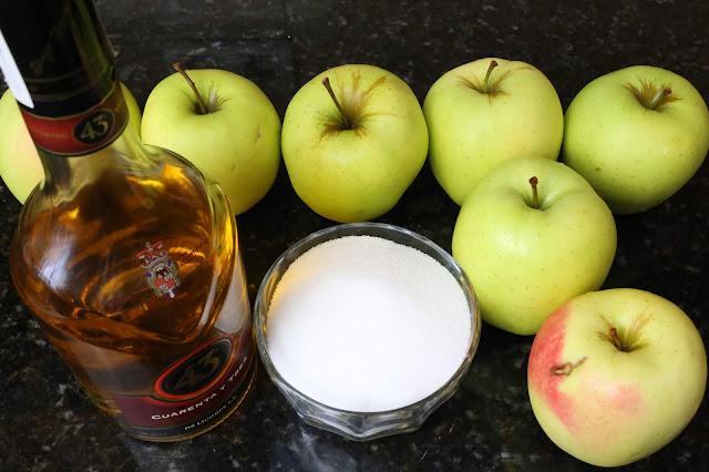 Ingredientes para manzanas asadas al horno