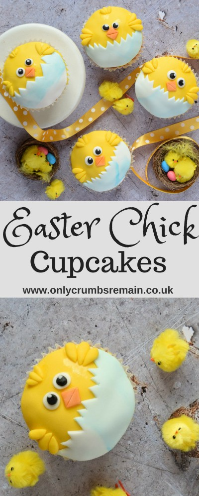 How to make the perfect Easter cupcake with these fun fondant decorated Easter Chick Cupcakes.  They're perfect for springtime, bake sales as well as Easter parties.