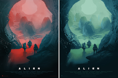 Alien Day 2018 Exclusive Alien Movie Poster Screen Print by Pascal Blanché x Mondo