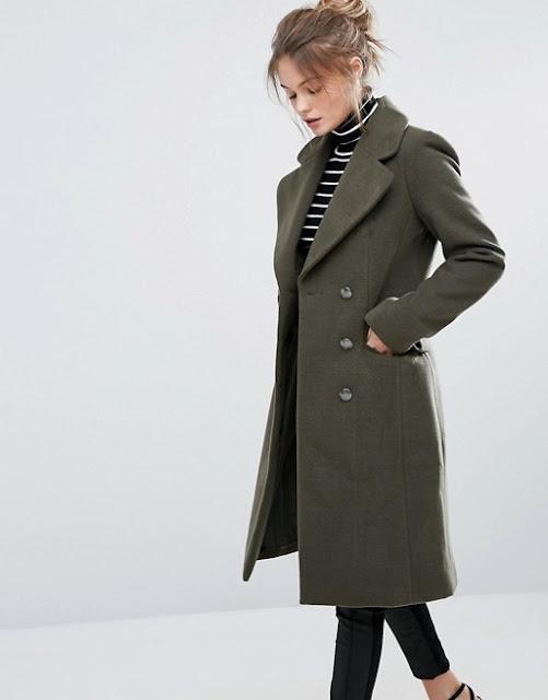 green military coat, oasis military coat, oasis olive coat, oasis khaki coat,