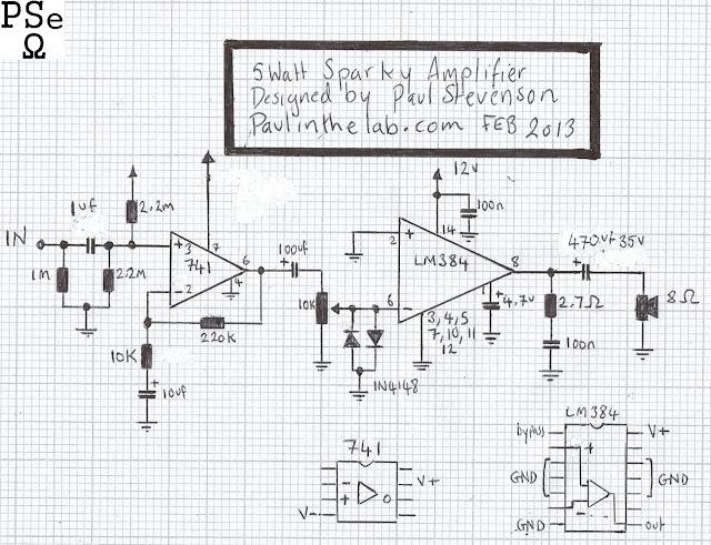 paul in the lab  sparky 5 watt amplifier stripboard