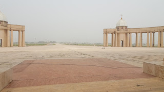 The Pope traveled to Yamoussoukro to accept the basilica as a gift