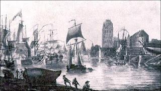 Nicholas Pocock painting, Bristol Harbour, 1787