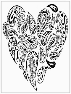 Heart Adult Coloring Pages