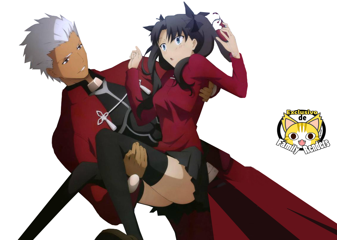 Render Archer y Tohsaka Rin  + Fate Stay Night (Unlimited Blade Works)