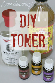 DIY Acne Clearing Toner - 25 Essential Oil DIYs RoundUp