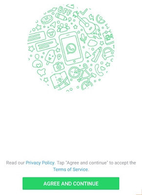 Accept WhatsApp's terms of service