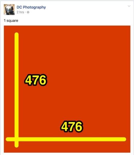 standard image size for facebook posts