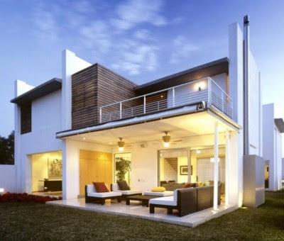 Tampak Depan Rumah mewah Minimalis 2 Lantai