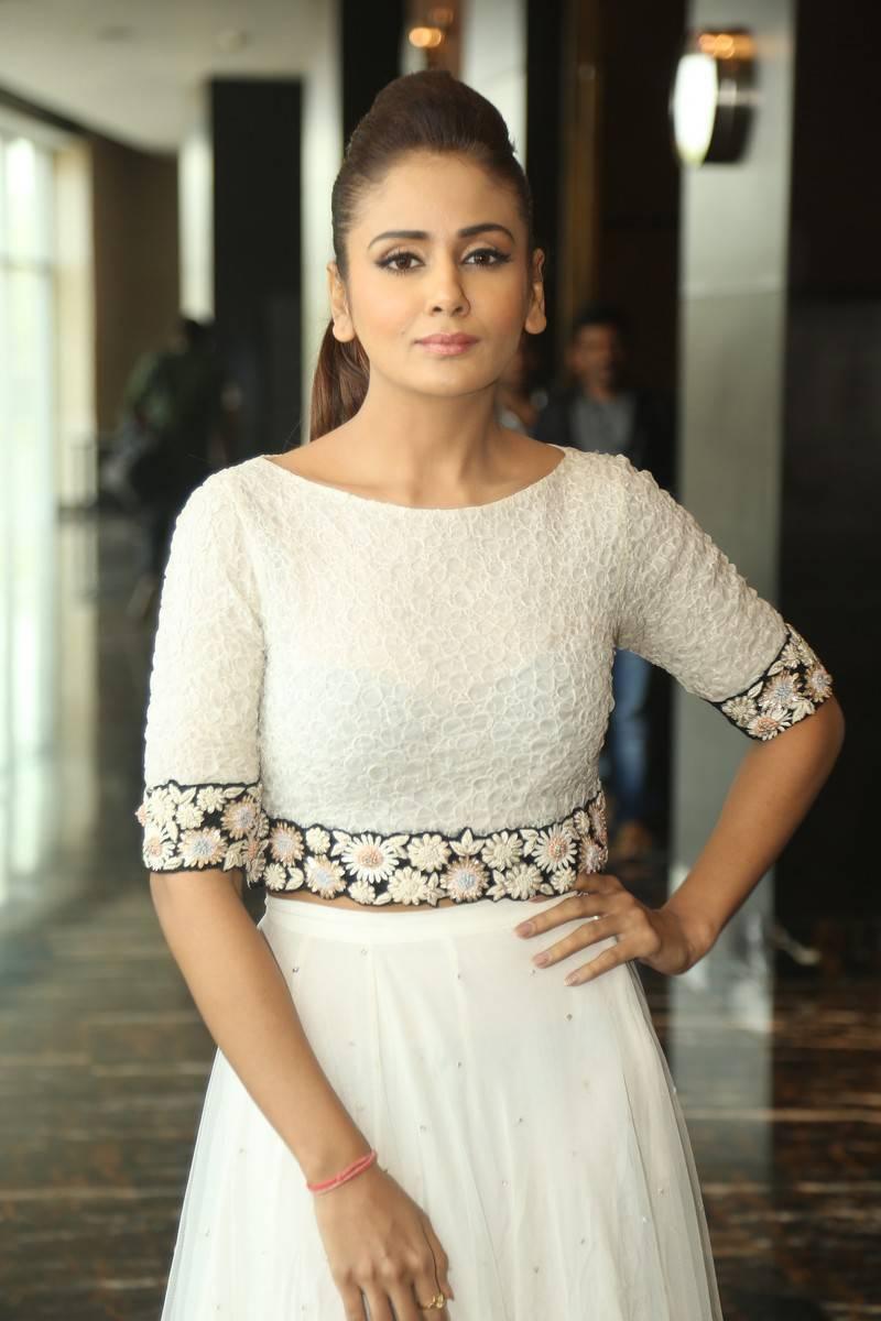 Kannada Actress Long Hair Stills In White Dress Parul Yadav
