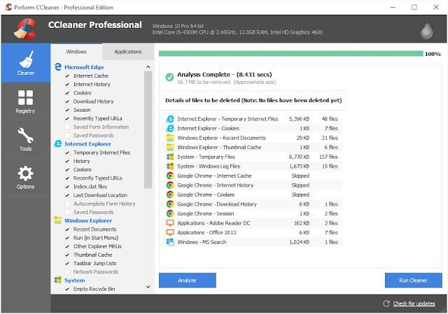 CCleaner For Windows - برنامج تنظيف الكمبيوتر سي كلينر