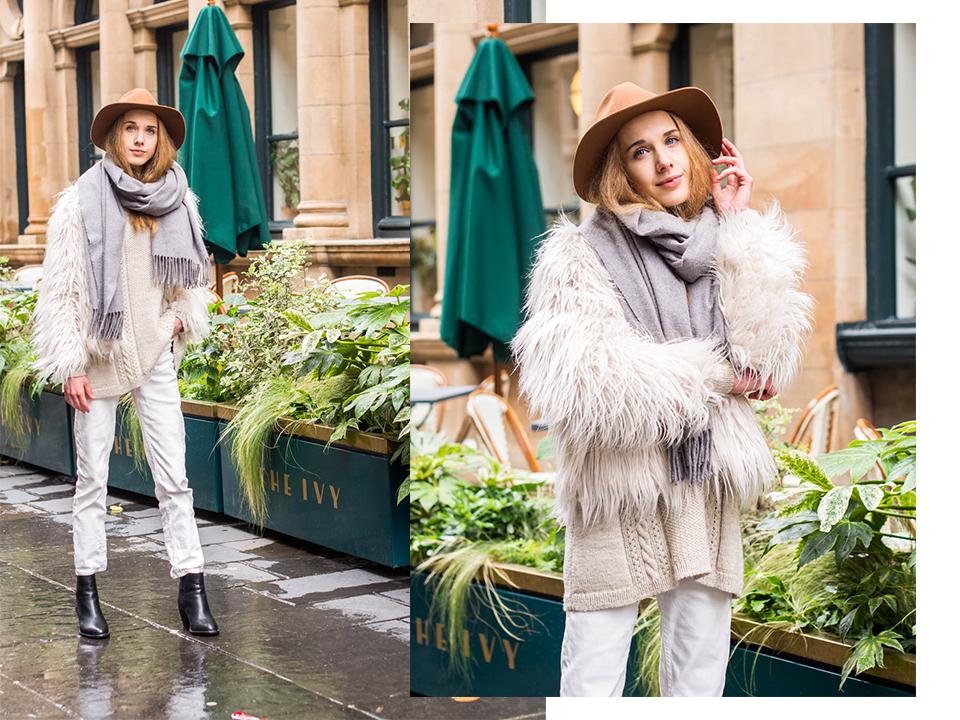 H&M Premium Collection tan wool fedora