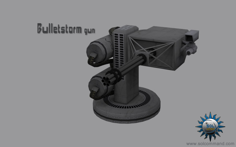 Bulletstorm free download 3d model  gun weapon capital ship mounted detachable modular