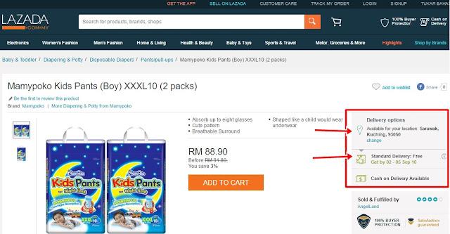 Untunglah! Beli Pampers Online Delivery FREE