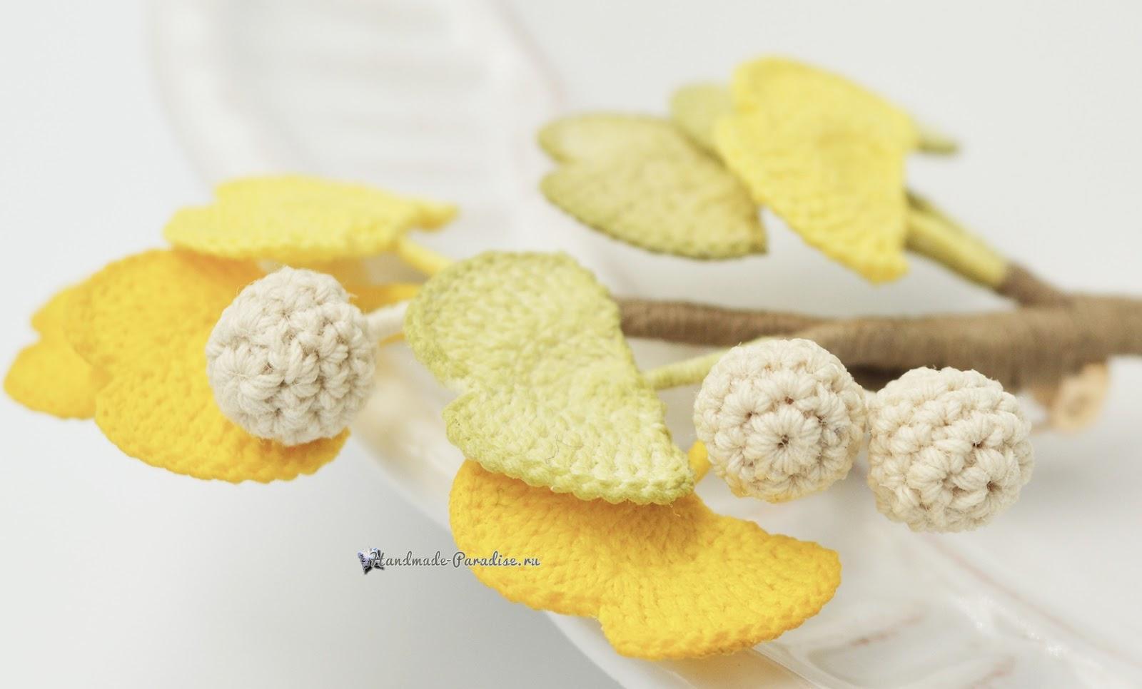Схемы вязания цветов гинкго билоба (3)