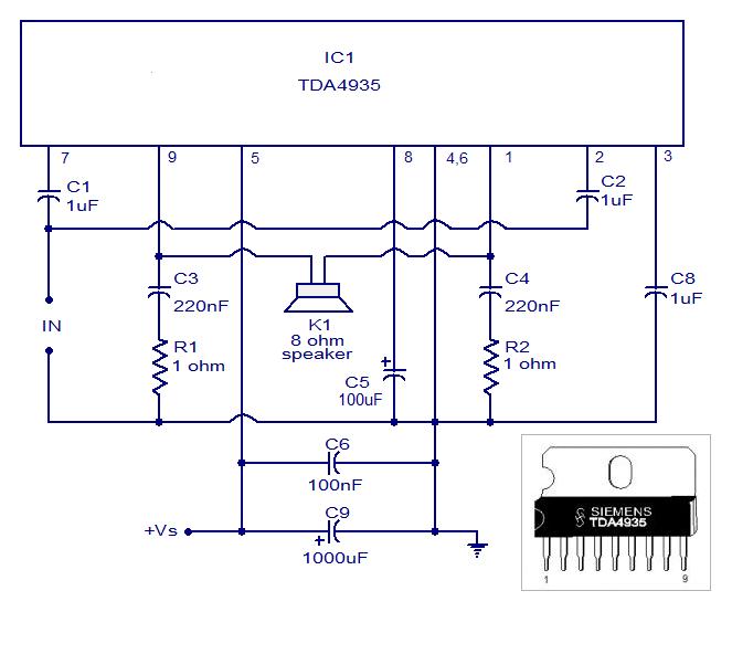 Tda 4935 Bridge Amplifier