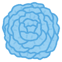 お花紙のイラスト(青)