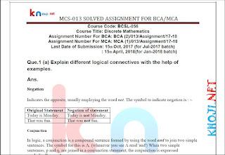 assignment 2nd semester