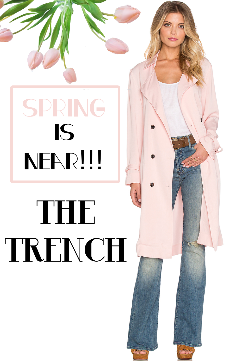 Lucca Couture Soft Cupro Trench Coat