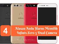 Infinix Zero 5, Andorid RAM 6 GB dan Dual Camera Dengan Harga Terjangkau