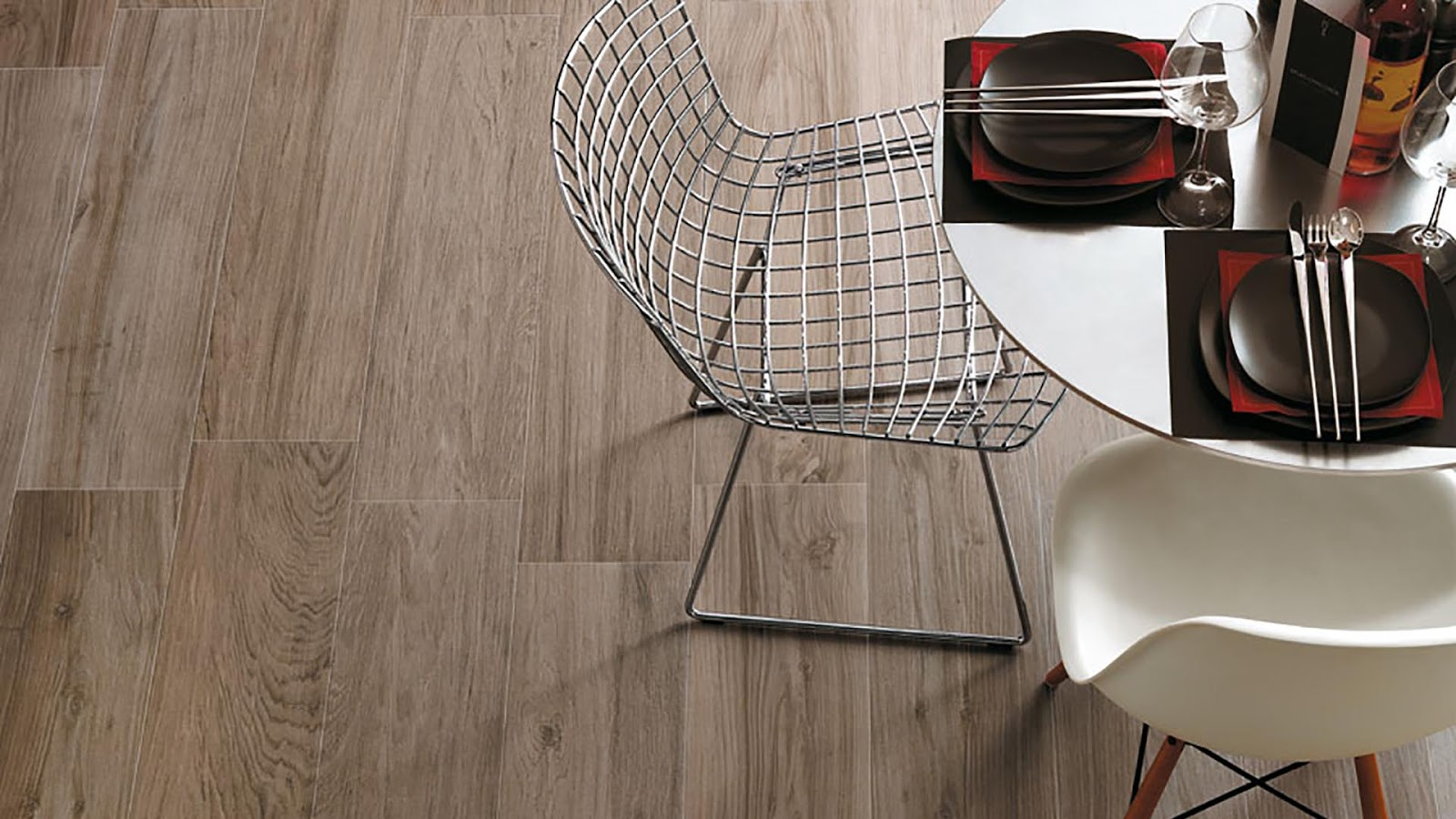 wood tiles design with etic collection - contemporary natural