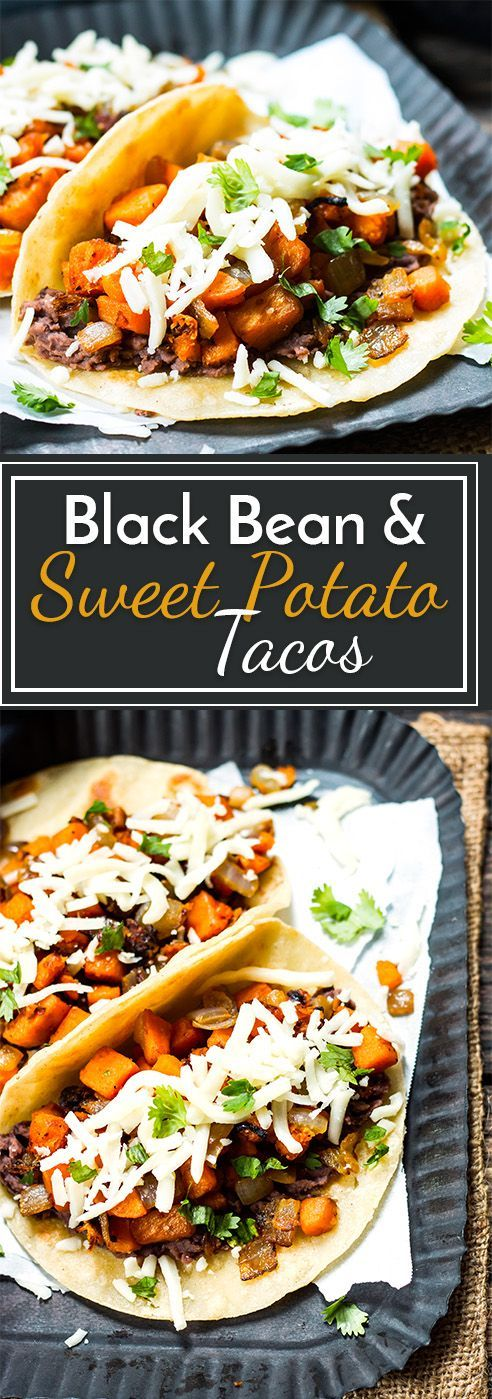 BLACK BEAN & SWEET POTATO TACOS | VEGETARIAN  #masonjar #healthy #recipes #greatist #vegetarian #breakfast #brunch  #legumes #chicken #casseroles #tortilla #homemade #popularrcipes #poultry #delicious #pastafoodrecipes  #Easy #Spices #ChopSuey #Soup #Classic #gingerbread #ginger #cake #classic #baking #dessert #recipes #christmas #dessertrecipes #Vegetarian #Food #Fish #Dessert #Lunch #Dinner #SnackRecipes #BeefRecipes #DrinkRecipes #CookbookRecipesEasy #HealthyRecipes #AllRecipes #ChickenRecipes #CookiesRecipes #ріzzа #pizzarecipe #vеgеtаrіаn #vegetarianrecipes #vеggіеѕ #vеgеtаblеѕ #grееnріzzа #vеggіеріzzа #feta #pesto #artichokes #brоссоlіSаvе   #recipesfordinner #recipesfordinnereasy #recipeswithgroundbeef  #recipeseasy #recipesfordinnerhealth #AngeliqueRecipes #RecipeLion #Recipe  #RecipesFromTheBlog #RecipesyouMUST #RecipesfromourFavoriteBloggers #BuzzFeed #Tasty #BuzzFeed #Tasty #rice #ricerecipes #chicken #dinner #dinnerrecipes #easydinner #friedrice #veggiespeas #broccoli #cauliflower #vegies,  #vegetables  #dinnerrecipes #dinnerideas #dinner #dinnerrecipeseasy #dinnerrecipesforfamily #TheDinnerMom #DinnerthenDessert #DinnerattheZoo #QuickandEasyRecipes #DinnerattheZooRecipes #DINNERRecipes #DinnerRecipesSimpleMeals