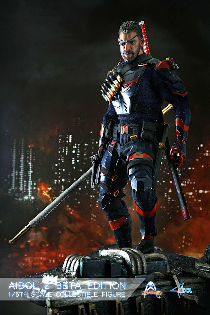 Art figure 1/6th scale AIDOL 2 Beta Edition 12-inch figure has a certain Deathstroke vibe to it