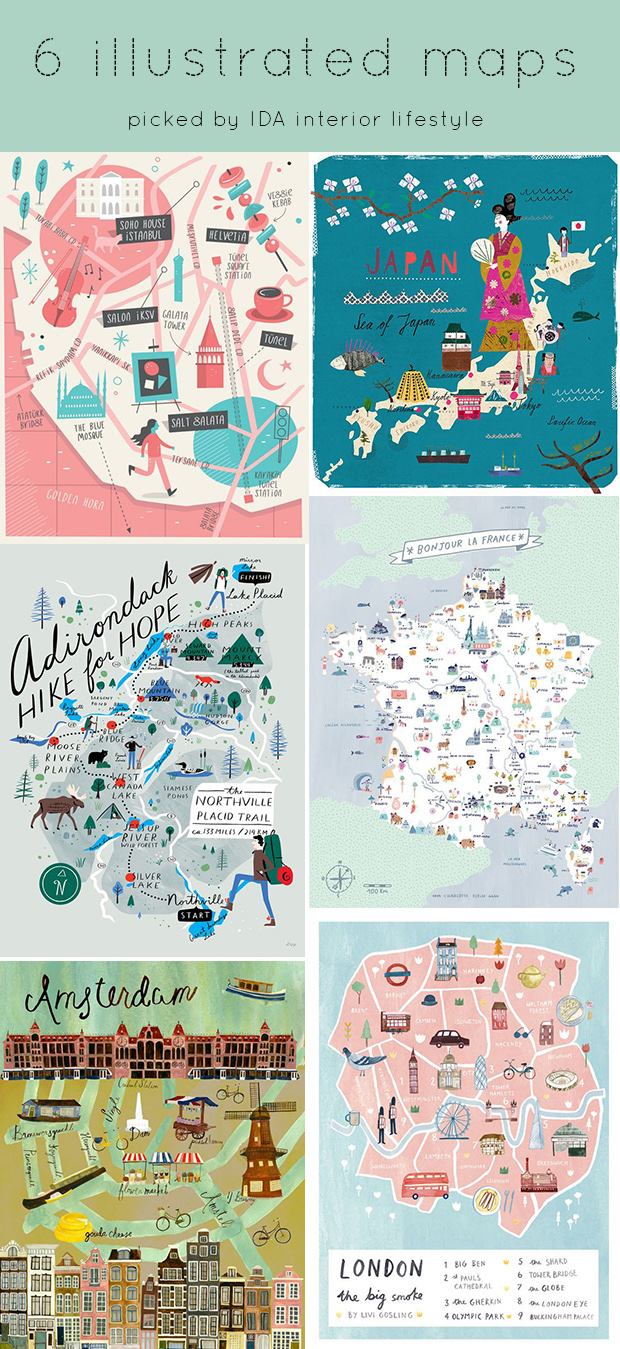 6 illustrated maps