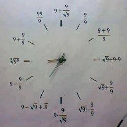 Gambar Jam Lucu Matematika