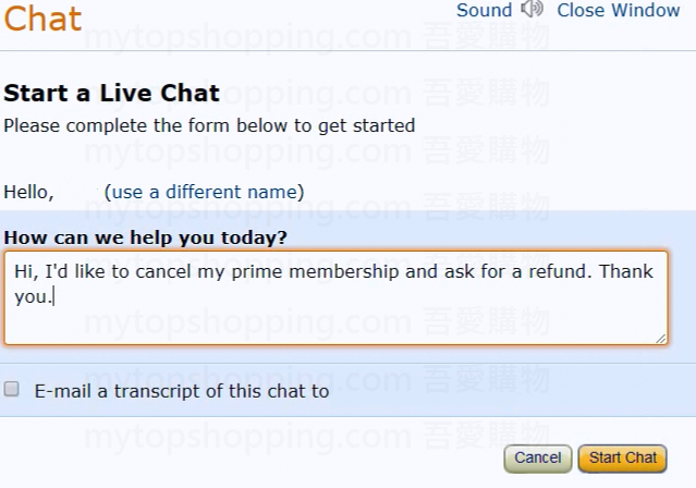 Amazon 美國 Chat