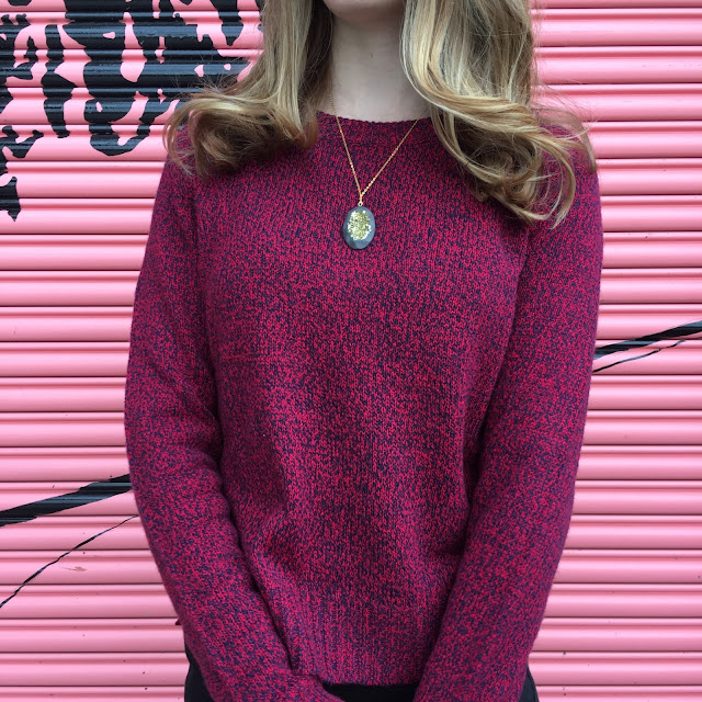burgundy-ankle-boots-gold-druzy-necklace