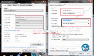 seting format tanggal dan waku komputer 2