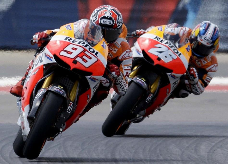 MotoGP Argentina : Berdampak pada traksi ban, Marquez dan Pedrosa keluhkan kondisi trek yang berdebu . .